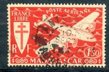 TIMBRE DE MADAGASCAR N° 56 OBLITERE FRANCE LIBRE AVION
