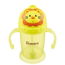 1x Simba Cute Yellow Lion 8oz Flip Open Lid Flexible Straw Training Cup Bottle
