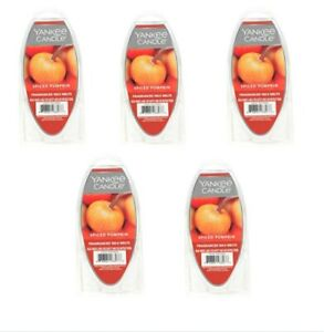 YANKEE CANDLE Fragranced Wax Melts 2.6oz - SPICED PUMPKIN - LOT OF 5 New