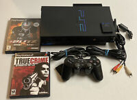 Sony PlayStation 2 PS2 Console System Game Bundle SCPH-50001 w/games and memory