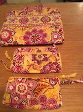 Vera Bradley Bali Gold Wrislet Jewelry Organizer Wallet (3) In Set
