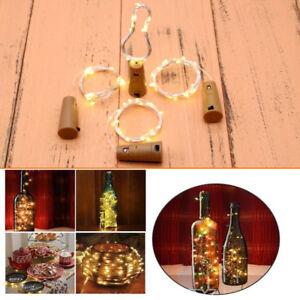 6/24X 2M 20LED Wine Bottle Cork Fairy Night Lamp Starry Light Wedding Party Xmas