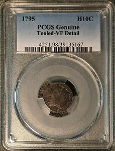1795 Flowing Hair Half Dime PCGS VF tooled. FREE SHIPPING