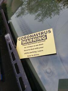 FUNNY prank bad parking card, gag gift
