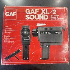GAF XL/2 Sound Super 8 Movie Camera 2:1 Zoom with Box Untested