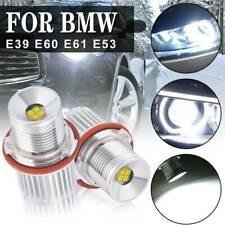 2xBMW E60 E61 E63 E64 E66 HALO ANGEL EYE LED LIGHT H8 40W WHITE BULBS(Fits: BMW)