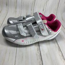 LOUIS GARNEAU Women's Jade Road Cycling Shoes White Pink Silver  11.5 US