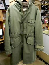 Vintage United States Navy USN WW2 Pilot TRENCH COAT Military