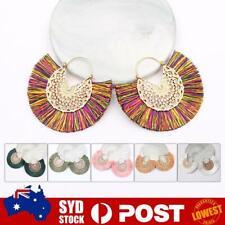 Bohemian Tassel Earrings Boho Retro Statement Bronze Circle Round Fan Woman AU Z