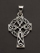 Pendentif Crucifix Croix Celtique Irlandaise triquetra Argent 925-5.3g 25923