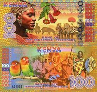 Bank of Equatorial Territories Kenya 100 Equatorial Francs 2015 Fantasy Note