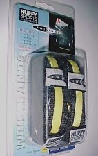 Huffy Sports Twilight Lighted Amber Black Wristbands Model 8342 One Pair New