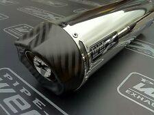 Yamaha Yzf R1 98-01 acero redondo de acero, carbono Salida De Escape, silenciador