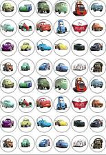 48 Cars 2 Disney Birthday Fairy Cup Cake Bun Toppers Wafer Edible Decorations