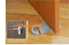 2Pcs Heavy Duty GREY Door Stopper Stoppers Wedge Wedges Jam Block with HOOK