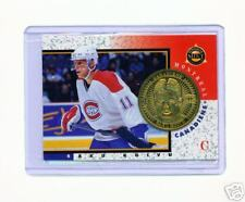 1997-98 PINNACLE MINT SAKU KOIVU BRASS COIN & CARD