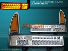 00-05 Ford Excursion / 99-04 Super Duty 250/350 Front Bumper Lights LED Chrome