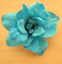 "2.5"" Turquoise Apple Blossom Silk Flower Hair Clip,Dance,Wedding,Prom,Bridal"