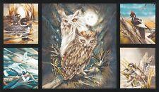 Robert Kaufman Fabric, North American Wildlife 5, Earth, Wildlife Panel