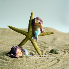 Beautiful Starfish & Mermaid Resin Figurine Ornament,Cute Sleeping Beauty Statue