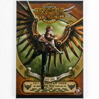 Anne Stokes Steampunk Angels fridge magnet 8cm x 5.5cm