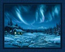 Northern Night Lights Quilt Top Wall Hanging Panel Fabric Digital Print