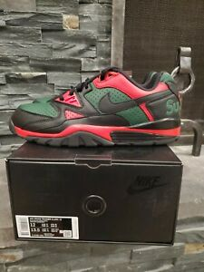 Nike Supreme Air Cross Trainer 3 Low Red Black Green RBG Size 12 DEADSTOCK