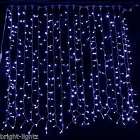CONNECTABLE BLUE LED CURTAIN LIGHTS WEDDING CHRISTMAS XMAS PARTY HOTEL BACKDROP