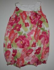 New Gymboree Floral Bow Bubble Romper Outfit Size 12-18m NWT Family Brunch Line