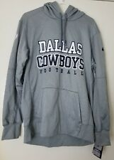 Nike NFL Dallas Cowboys ThermaFit Pullover Sweater Hoodie Gray Mens Size Large