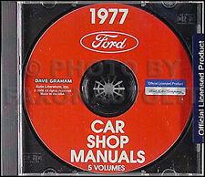 1977 Lincoln Repair Shop Manual CD 77 Continental and Mark V Service