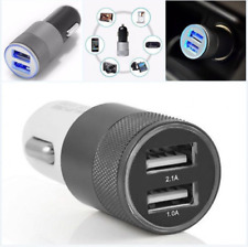 1pcs 12V Mini Dual 2 Twin Port USB Plug In Car Lighter Socket Charger Adapter