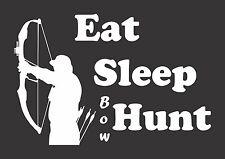 Eat Sleep Bow Hunt Archery  - Die Cut Vinyl Window Decal/Sticker for Car/Truck