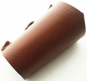 Brown Leather Vambrace Gaunlet Cuff Wristband Steampunk Reenactment-Arm Guard