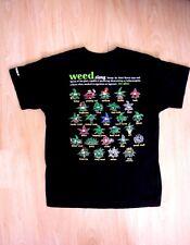T-Shirt : Weed : Men's L : Black : Jamaica