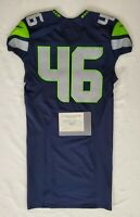 Seattle Seahawks Blank #46 Team Issued Home Jersey with COA - SA 09291