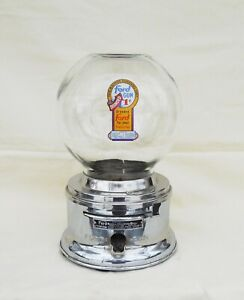 Counter top 1c Ford Gumball  Machine Glass Globe with Fired on Ford Decal
