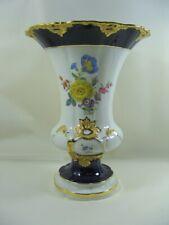Meissen Porzellan Vase Kobaltblau - reiche Goldauflage- 1.Wahl - ca 24,3 cm Höhe