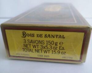 VINTAGE Roger Gallet Soap 3 pack 150gr Paris Bois de Santal Sandalwood