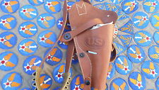 WW2 REPRODUCTION 38 CAL. NEW LEATHER SHOULDER HOLSTER WITH CARTRIDGE HOLDER