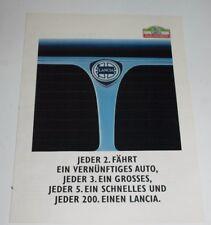 Lancia Delta prisma tema y10 catálogo programa folleto brochure publicidad