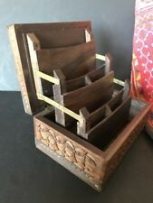 Old Carved Wooden Desk Box …beautiful accent / display piece