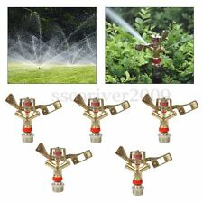 "5pcs 3/4"" Irrigation Water Impact Sprinkler Head Adjustable Garden Lawn Sprayer"
