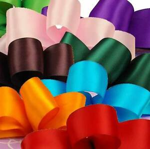 5 Metre Bundle of 25mm or 38mm Satin Craft Ribbon - Colours of Your Choice