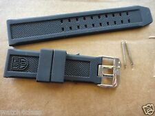 Luminox 7251 3050 3051 6402 Navy Seal 23mm Rubber Silicon Band Strap bracelet