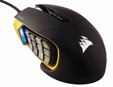 Corsair Gaming CH-9304011 SCIMITAR Pro Multi-Color 16000 DPI Maus schwarz gelb