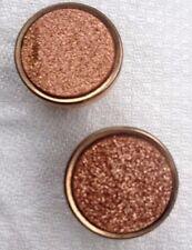 "Vtg 1940's Era Gold Stone collar Buttons Set Of 2 3/4"" Diameter Gold Plated"
