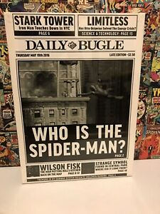New & Unopened Spiderman Canvas. Newspaper Print Design.