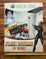 X-Box 360 Launch Video Game Store Display Sign 22x28 Perfect Dark Kameo PGR 2005