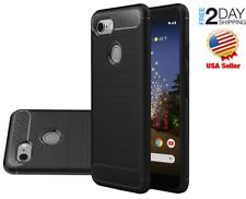 Google Pixel 3a Case Shock Absorption TPU Slim Flexible Protective Black Cover